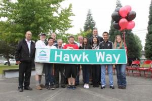 Hawk Way officially dedicated