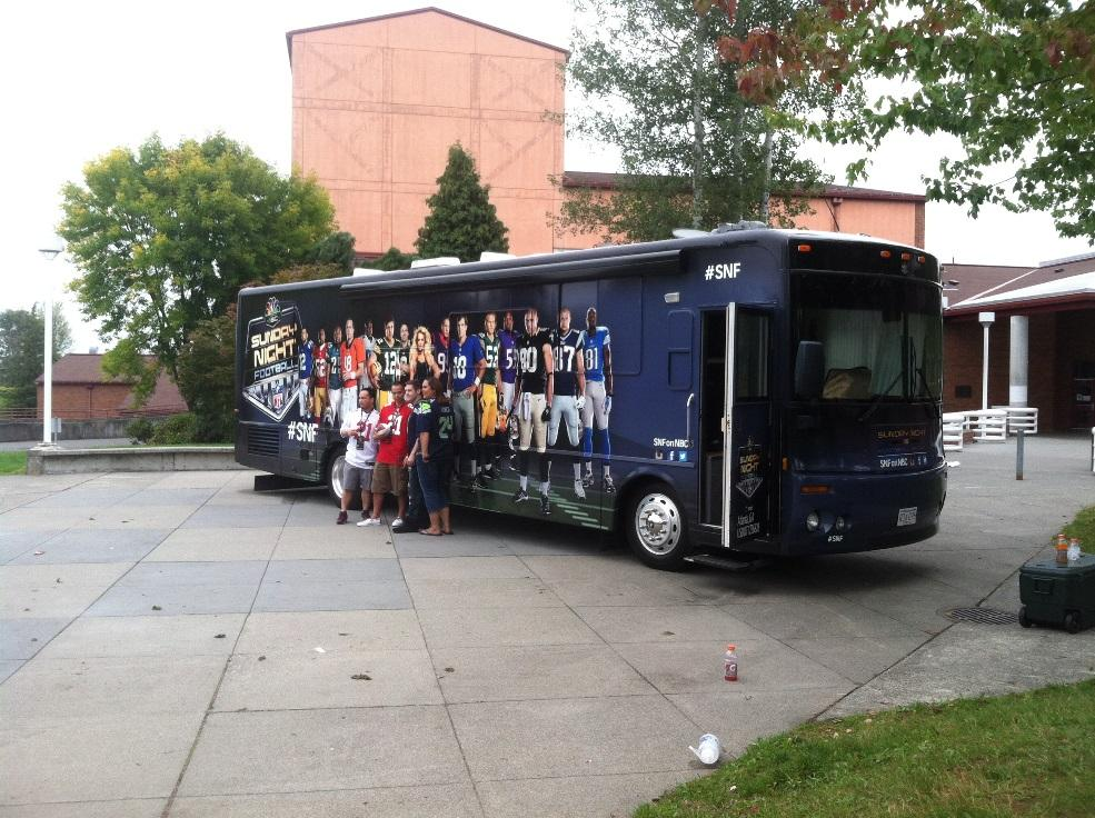 NFL Sunday Night Football bus makes a pit stop at MTHS