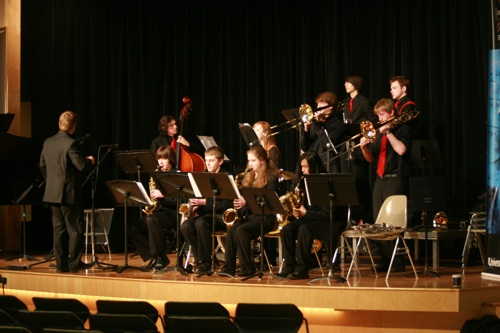 Jazz one performs at the Lionel Hampton Jazz Festival.