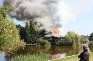 Business complex building at Cedar Valley Road on second-alarm fire