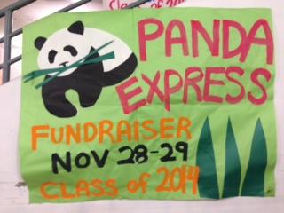 Panda Express fundraiser: Nov. 28, 29