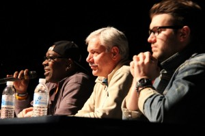 <u>Jannon Roque | Hawkeye</u> Terrace Idol second rounf judges: (from left to right): Wanz, Frank Blosser, Mackenzie Thoms