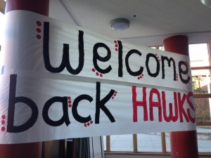 VIDEO: Hawks' first day of school
