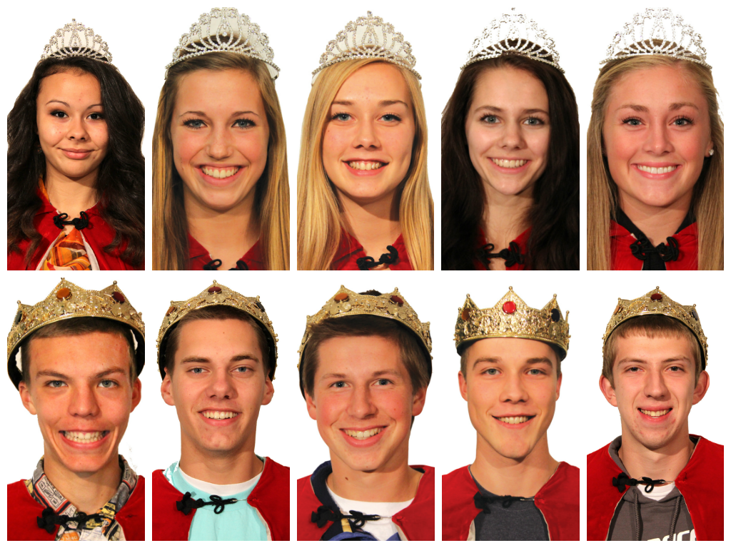 Homecoming Senior Court 2013
