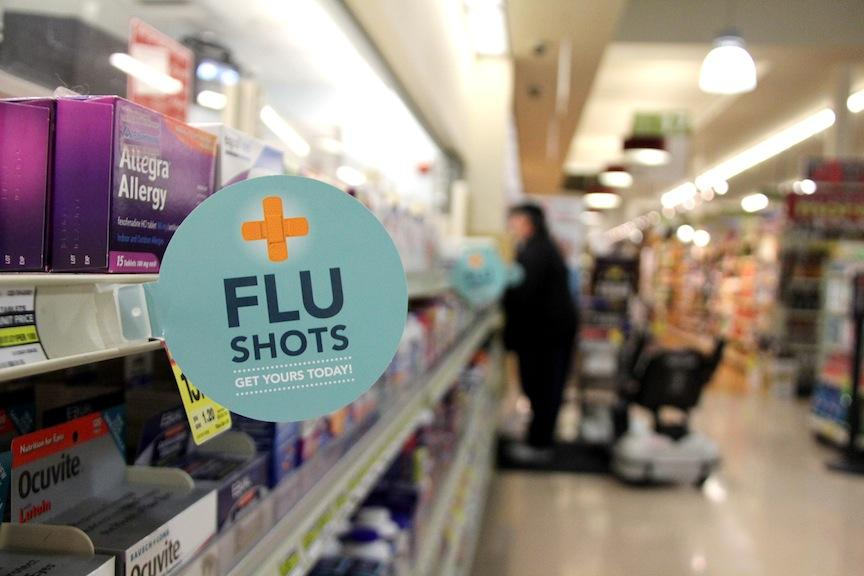Flu shots greatly reduce your chance of getting the flu.