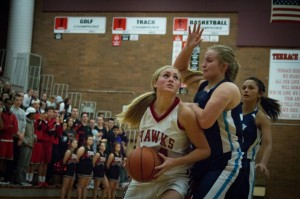 25 year losing streak snapped, Lady Hawks defeat Meadowdale 40-36