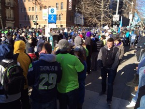 Crowds gather for Seahawks parade in Seattle