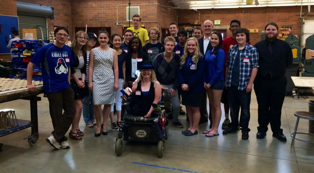 Congressman+Rick+Larsen+visited+STEM+students+on+Thursday%2C+speaking+about+projects%2C+tools+and+challenges+students+are+working+on.