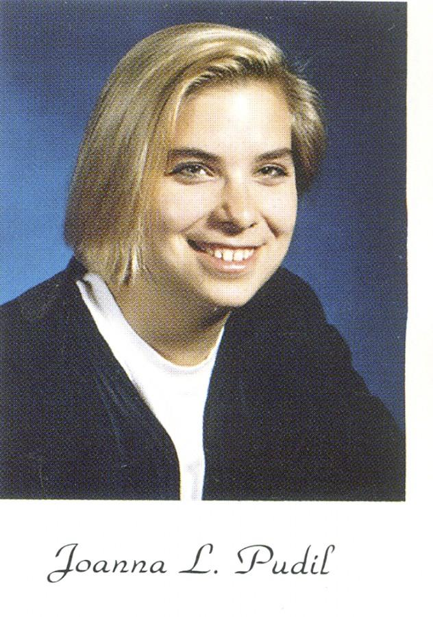 Joanna Pudil's senior portrait that appeared in the TEMPO yearbook.