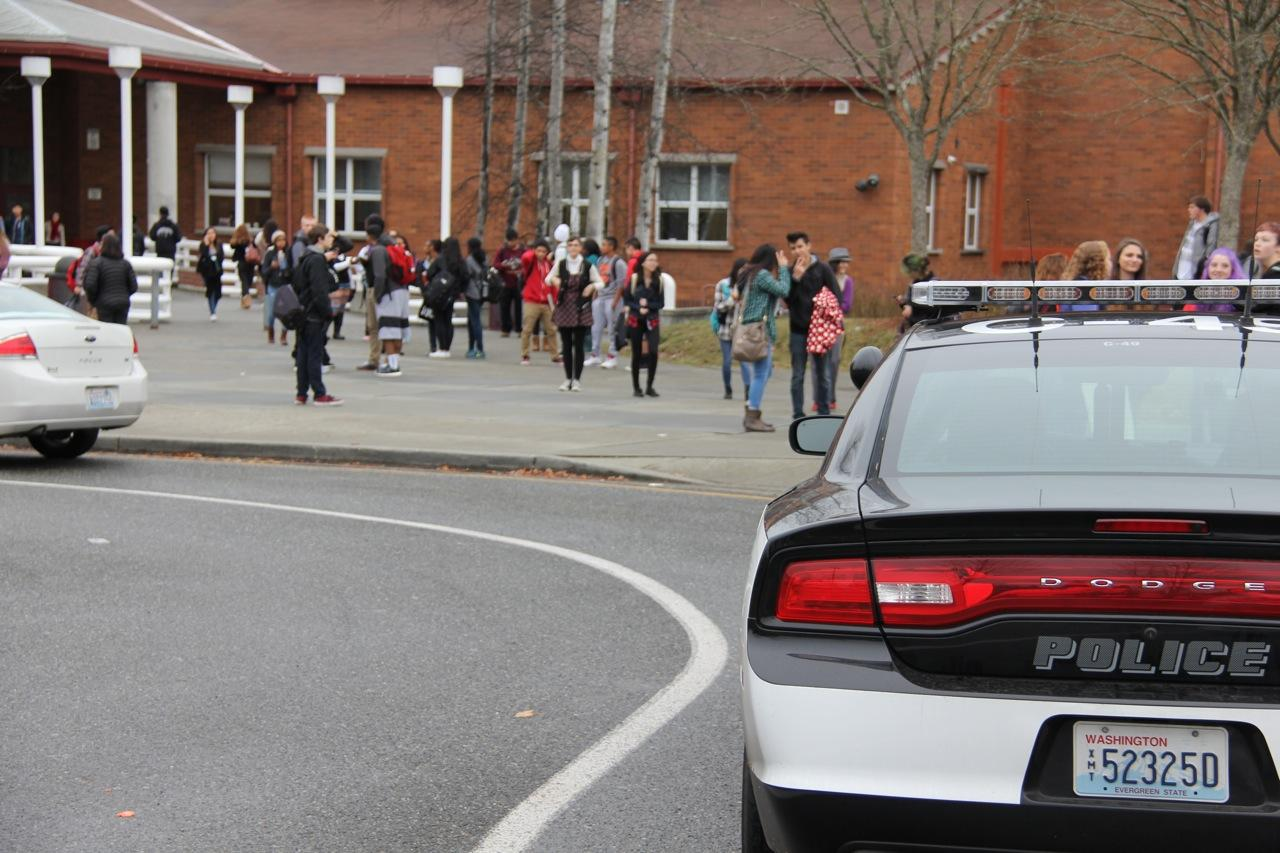 A total of six police officers responded after two bomb threats were called in to MTHS on Dec. 4.