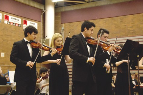 MTHS Chamber Orchestra's first violin section performs Concerto No. 8 by Arcangelo Corelli.