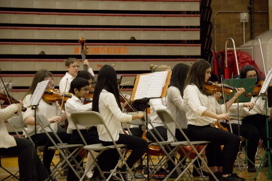 Eighth grade students from Brier Terrace Middle School perform.