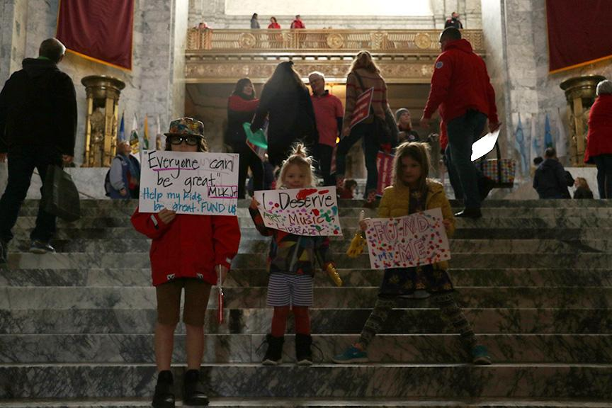 Children of all ages participated in the march on the capitol.