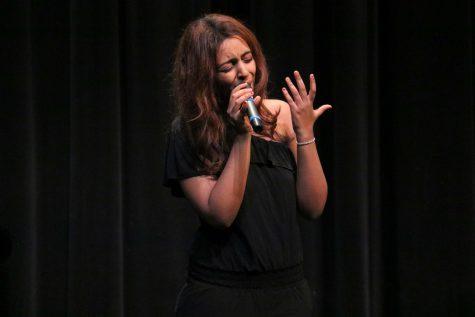 "Rackeb Kelemu, a sophomore, performs ""Dancing On My Own"" by Calum Scott."
