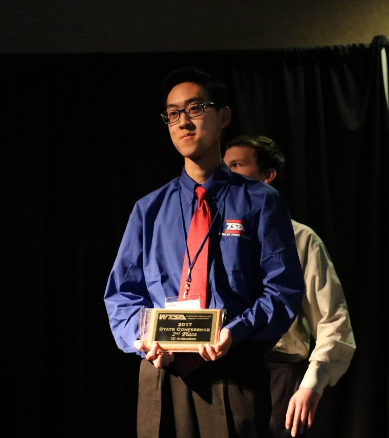 Sophomores Daniel Quach and Dior Nazarov places 2nd in the 3D Animation event.
