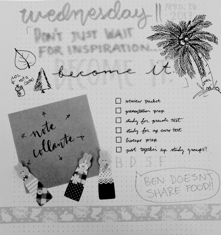 Bullet journals are customizable for students, letting them draw doodles and write in their events for the day without the typical restrictions a planner might have. Students can also put in journal entries or other plans for their day.