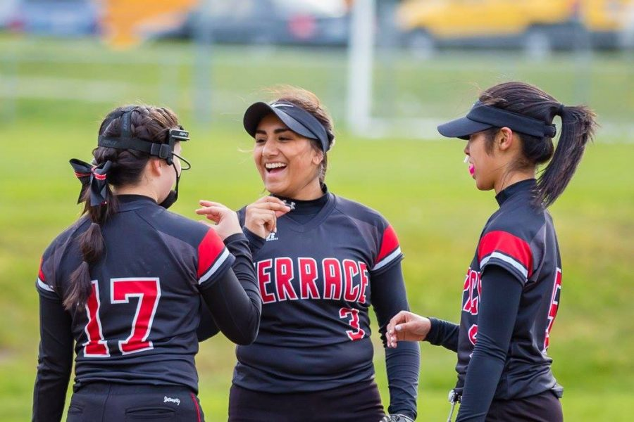 The girls softball team has won a total of five games this season, giving them a record of 5-1.