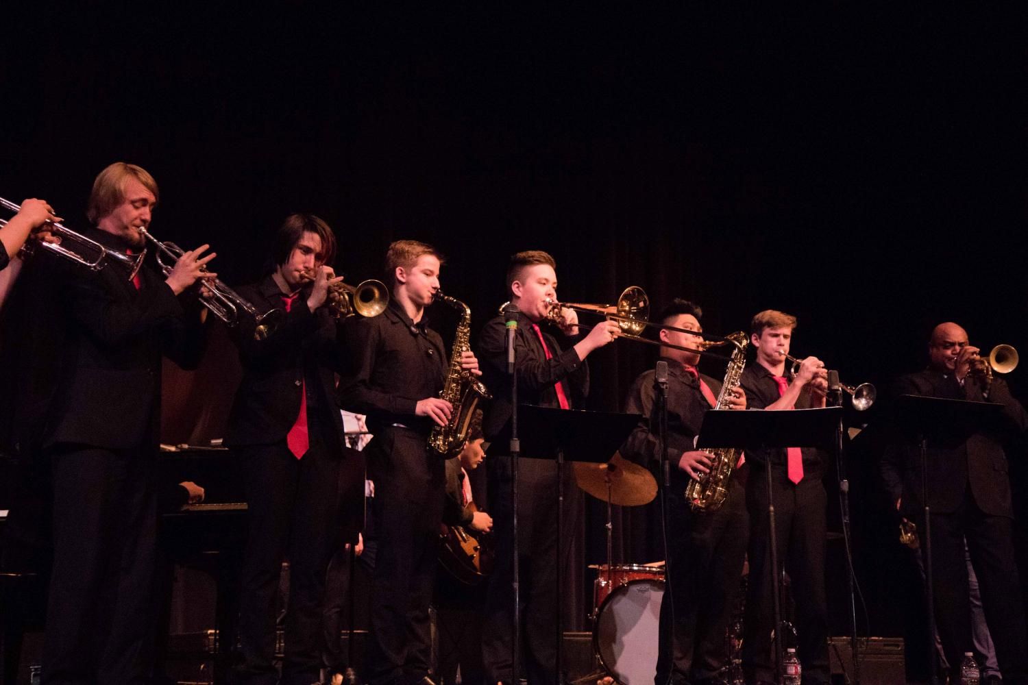 From left to right: Nathan Reeber, Solomon Plourd, Owen Moreland, Ethan Pyke, Andrew Sumabat, Finn O'hea, and Terell Stafford.