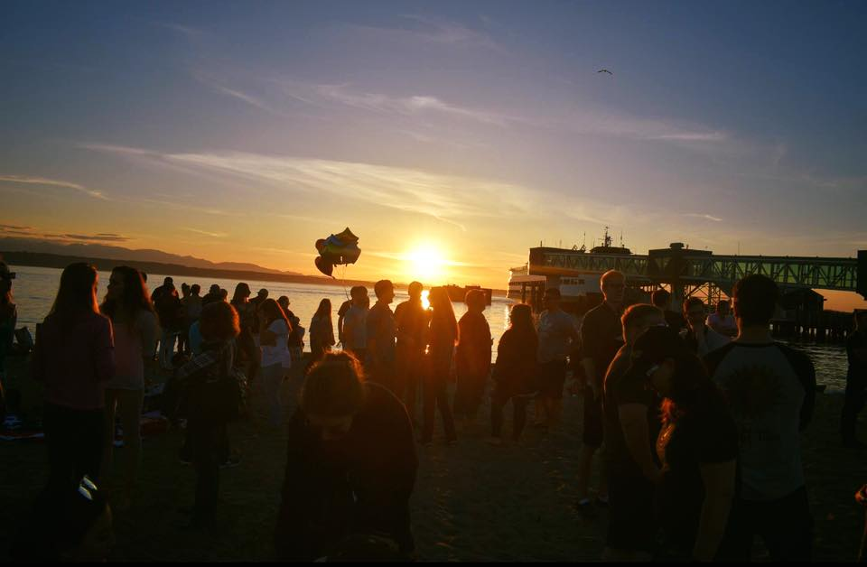 Friends and family of Andrew Shehata released balloons at Edmonds beach on Friday evening as a way to say goodbye to Shehata and to honor him.