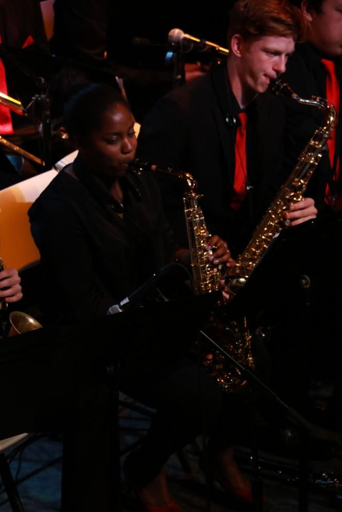 Senior Selena Williams plays her alto saxophone with jazz 1 for one of the last times. In each of the last performances, it's clear that the seniors are feeling their last year at Terrace draw to a close.