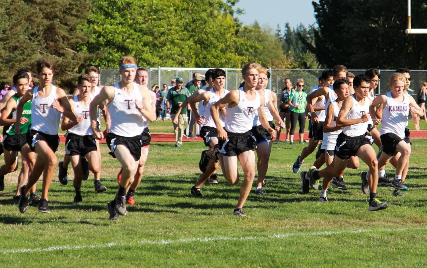 Hawks Cross Country faces off against tough 4A schools