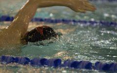 Men's Swim places third at district championship meet