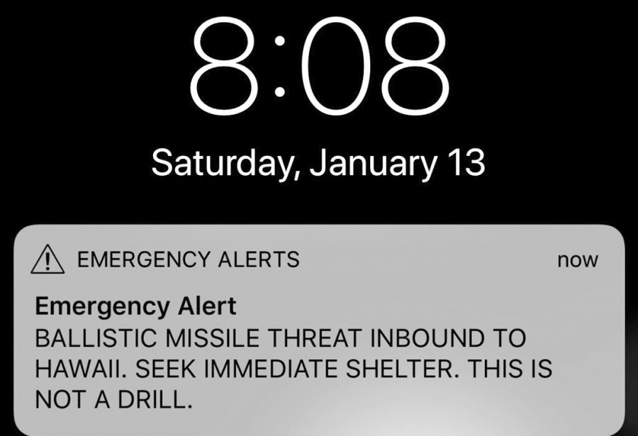 This message was inadvertently sent to residents of Hawaii on Jan 13.