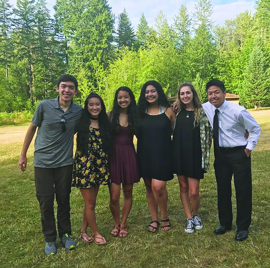 Pictured from left to right: Treasurer Eugene Seubert, Vice President Rosie Lee, President Brianna Houtman, Secretary Samantha Garcia Perez, Historian Kennedy Cooper and Public Relations Coordinator Andy Shaw.