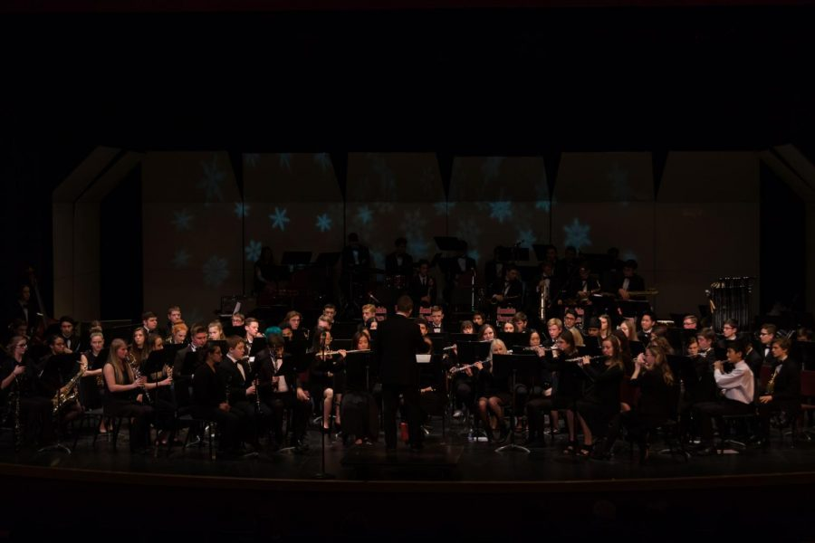 Jazz band with love and passion, performs during the Nutcracker concert.