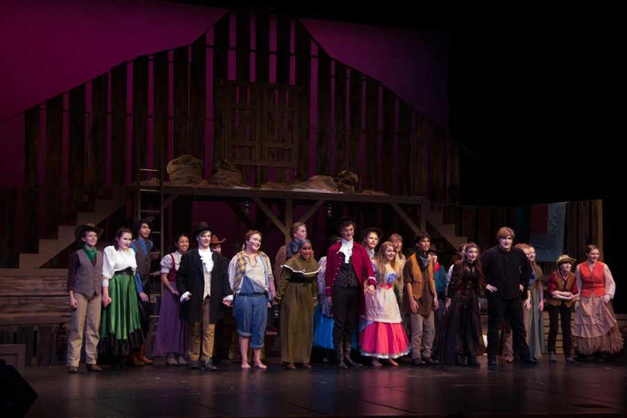 As the entire cast steps onto the stage, they cry a final, Bye!
