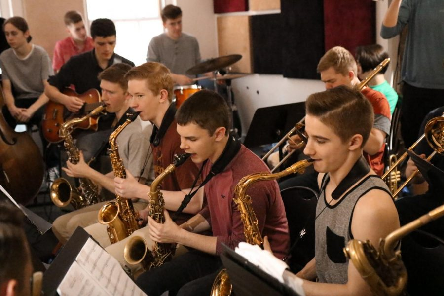 The saxophone section incorporates DiCioccio's advice to find more balance in their playing.