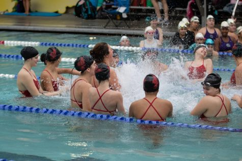 Women's swim falls 93 points behind Jackson Timberwolves