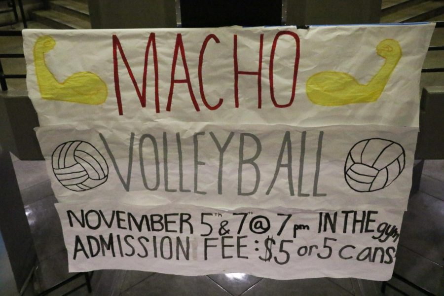 A poster created by MTHS ASB to advertise the two Macho Volleyball tournaments.