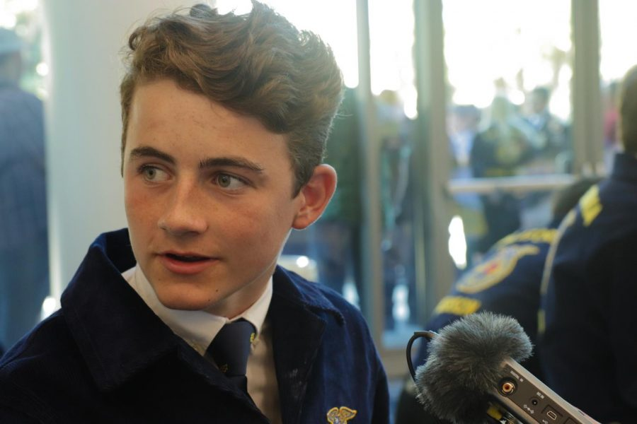 Liberty Ranch High School FFA member Cole Parker is interviewed about his experiences with the organization.