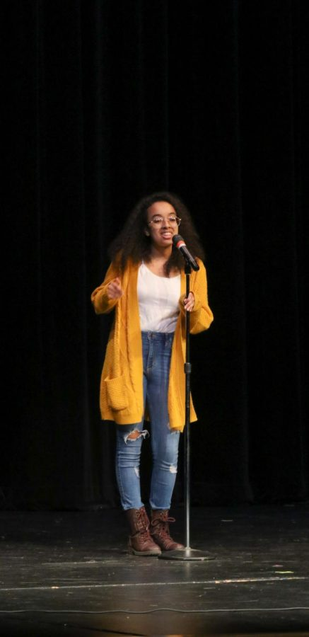Senior Semira Beraki was one of the few singers in Terrace Idol to sing an original song. Her's was called