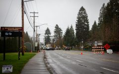 44th Avenue West was blocked off in both directions at 220th Street Southwest and buses were directed toward an alternative route.