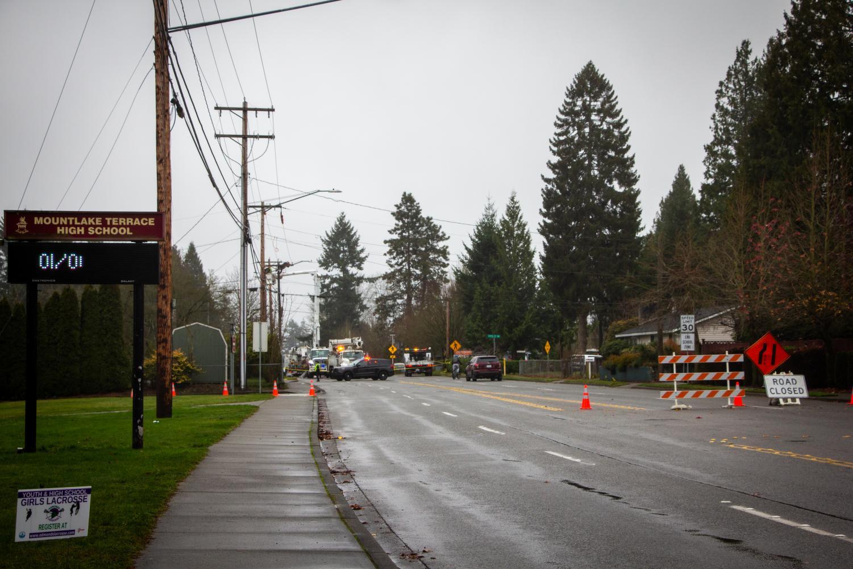 Fatal car crash leads to fire, road closure