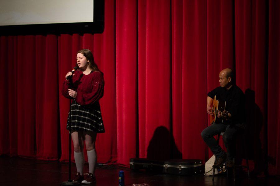 Sophie Stelmack, a junior, performs Elvis Presley's