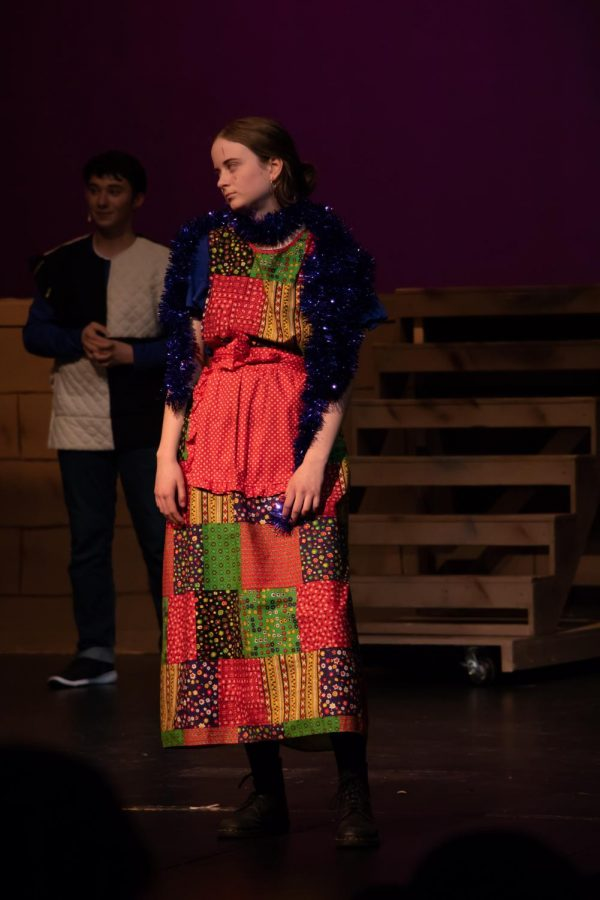 Memphis Raam, Senior, represents the rich man during Judas' storytelling. She strikes an annoyed look for a reaction to the story.