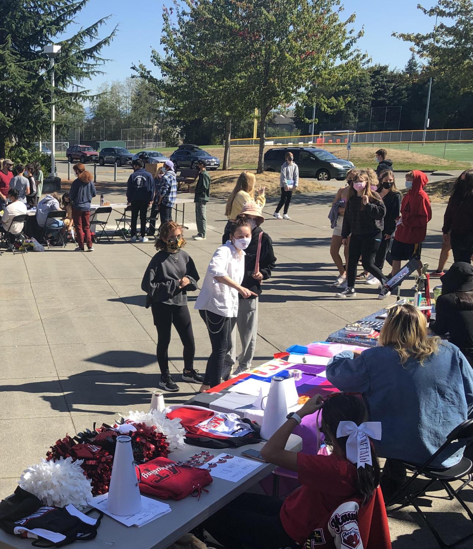 Students at Hawk Walk 2021